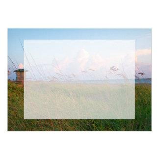 seagrass beach dunes florida lifeguard house invitations