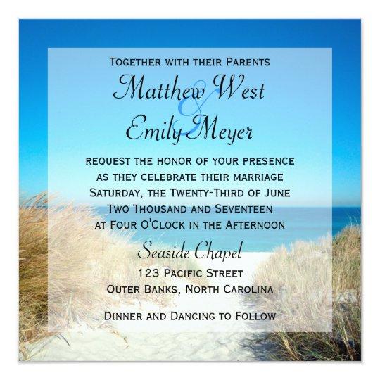 Seagrass Beach Wedding Invitations