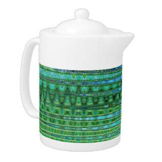 Seagrass Porcelain Tea Pot by Artist C.L. Brown