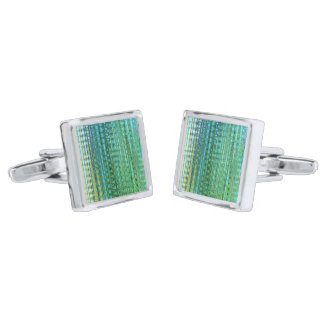 Seagrass Square Cufflinks Silver Finish Cufflinks