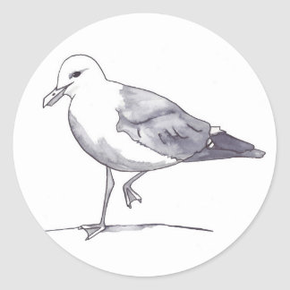 Seagull 1 round sticker