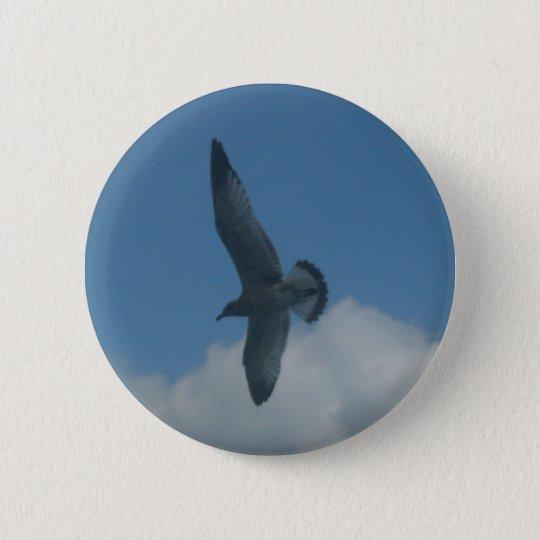 seagull 6 cm round badge