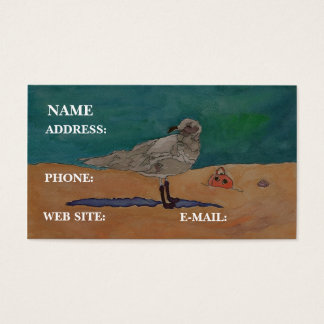 """Seagull At The Beach,"" - Business Card"