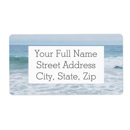 Seagull at the Beach in California Shipping Label