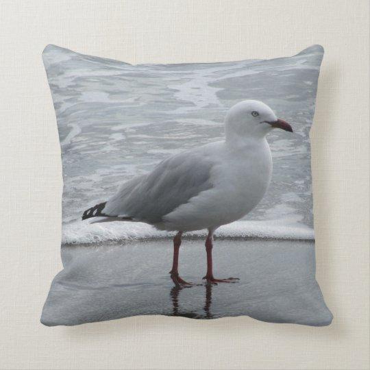 Seagull at Waters Edge Cushion