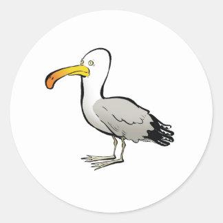 Seagull au naturel round sticker
