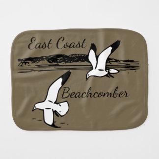 Seagull Beach East Coast Beachcomber burp cloth