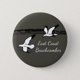 Seagull Beach East Coast Beachcomber button