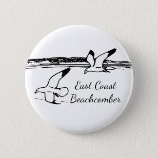 Seagull Beach East Coast Beachcomber button