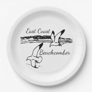 Seagull Beach East Coast Beachcomber paper plate