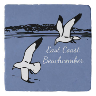 Seagull Beach East Coast Beachcomber trivet blue
