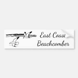 Seagull Beach EastCoast Beachcomber bumper sticker