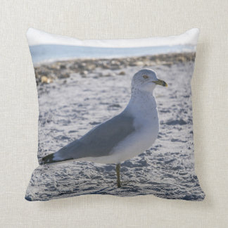 Seagull Beach Throw Pillow