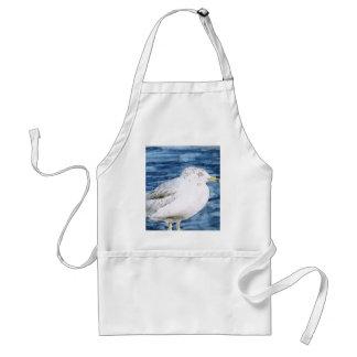seagull birds seagulls watercolor painting art standard apron