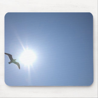 Seagull blue sky mouse mat
