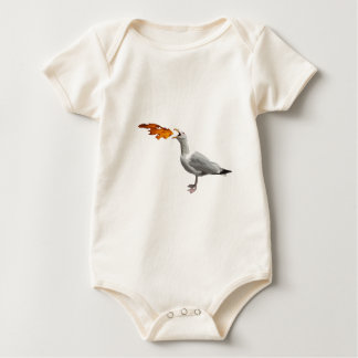 Seagull Breathing Fire Baby Bodysuit