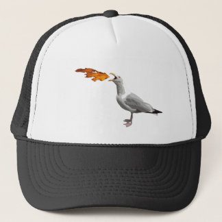 Seagull Breathing Fire Trucker Hat