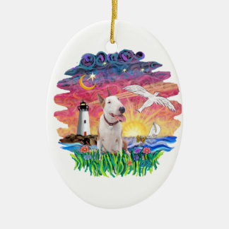 Seagull-Bull Terrier (B) Christmas Ornament