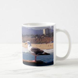 Seagull by Santa Monica Beach Mugs