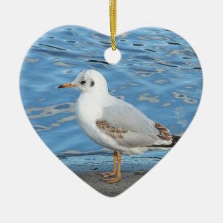 Seagull Ceramic Heart Decoration