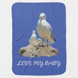 Seagull Couple Baby Blanket