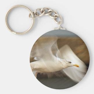 Seagull Design Basic Round Button Key Ring