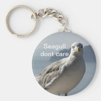 Seagull don`t care keychain