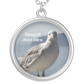 Seagull dont care pendant