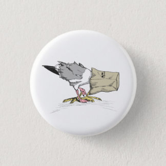 Seagull Fail Button | Funny Bird Illustration