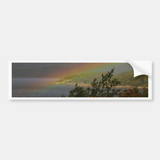 Seagull Flying past a Rainbow in Ardnamurchan Bumper Sticker