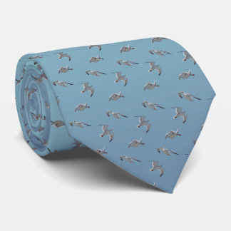 Seagull Frenzy Tie (Sky Blue Mix)