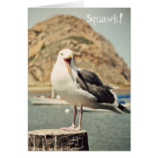 Seagull Happy Birthday Card