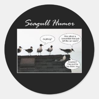 Seagull Humor Round Sticker