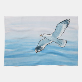 Seagull in Flight Tea Towel