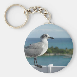 Seagull In Paradise Keychain