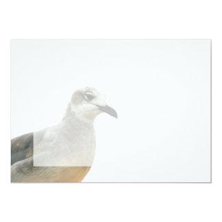 Seagull Left Corner Photo Custom Invites