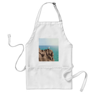 Seagull looking out to sea standard apron