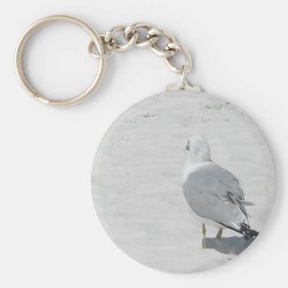 Seagull marching, different drummer! basic round button key ring