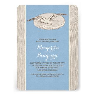Seagull nautical beach bridal shower invitation
