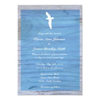 Seagull/Nautical Beach Wedding Invitation