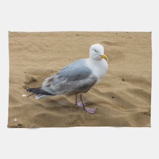 Seagull on a beach kitchen towel