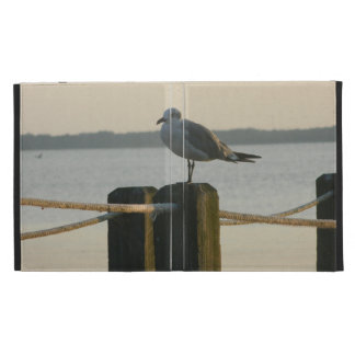 Seagull on a Post iPad Folio Cases