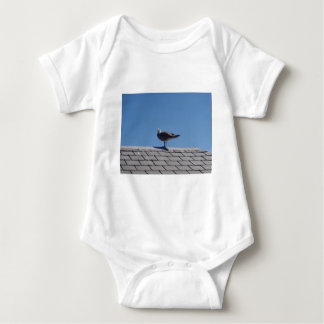 Seagull On A Slate Roof Baby Bodysuit