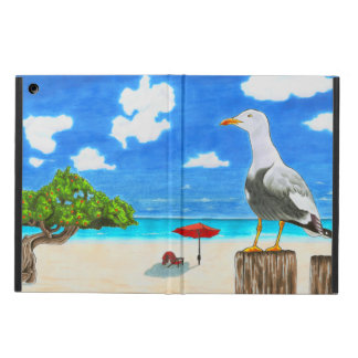 Seagull on a sunny beach iPad Air case
