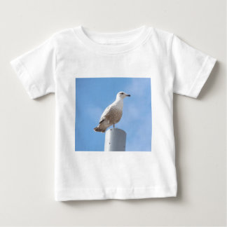 Seagull on pole baby T-Shirt