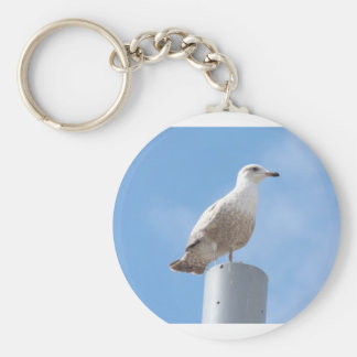 Seagull on pole key ring