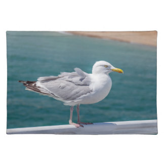 Seagull on railings placemat