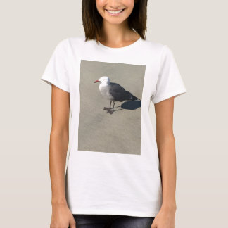 Seagull on Sandy Beach T-Shirt