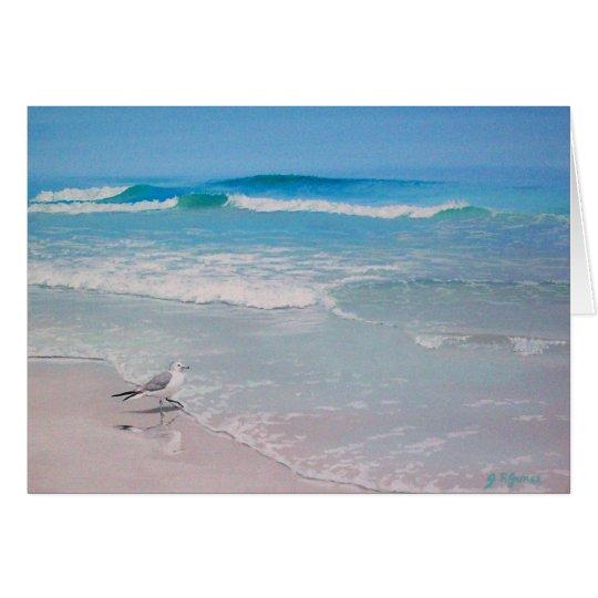Seagull on the Beach - blank inside Card