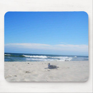 Seagull on the Beach Jersey Shore Ocean Mouse Pad